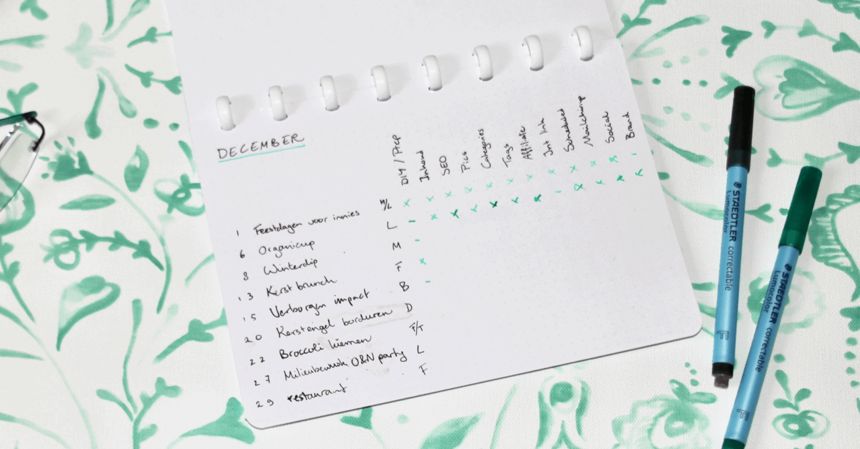 GreenBook Blog planner: blog post checklist