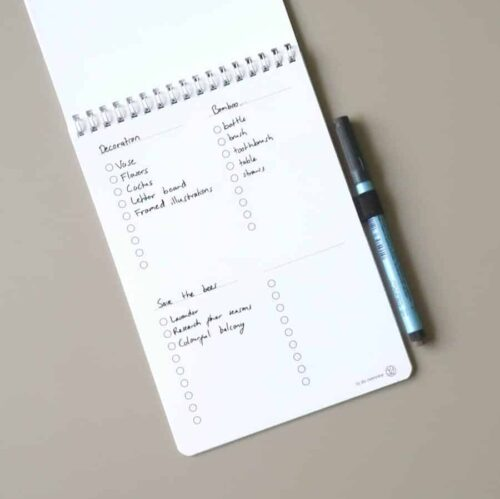 whiteboard notepad | erasable notepad | reusable notepad